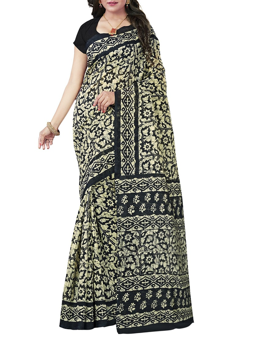 Black bhagalpuri saree with blouse