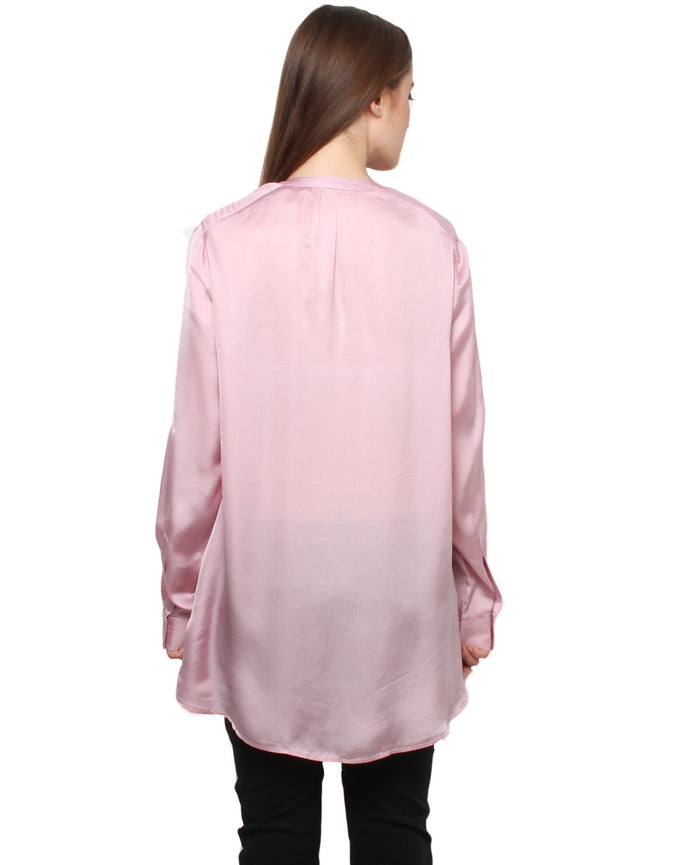 Double Pocket Cupro Satin Shirt