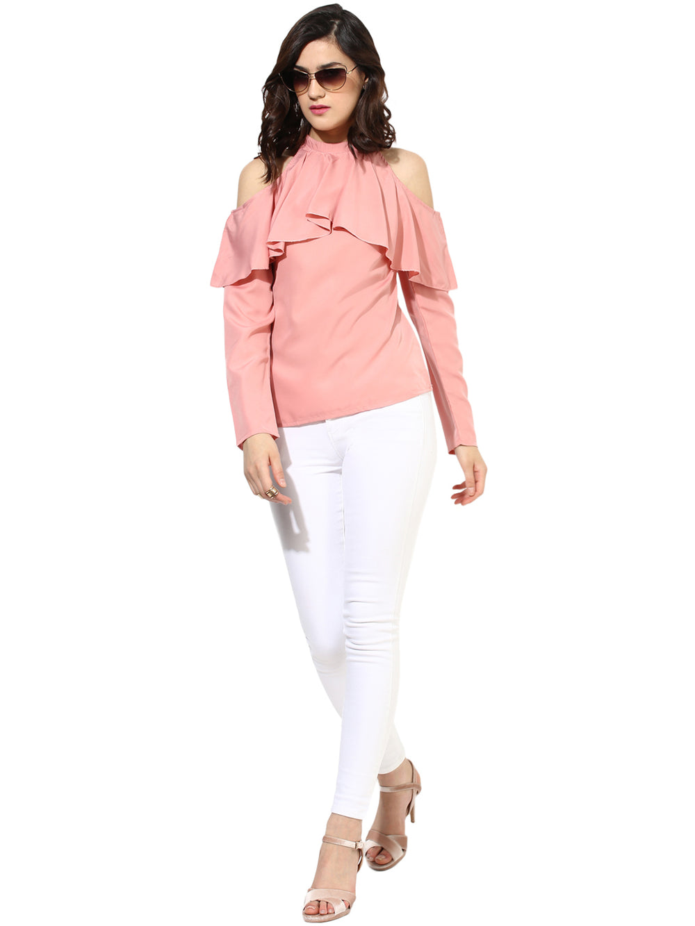Besiva Women Pink Solid Top