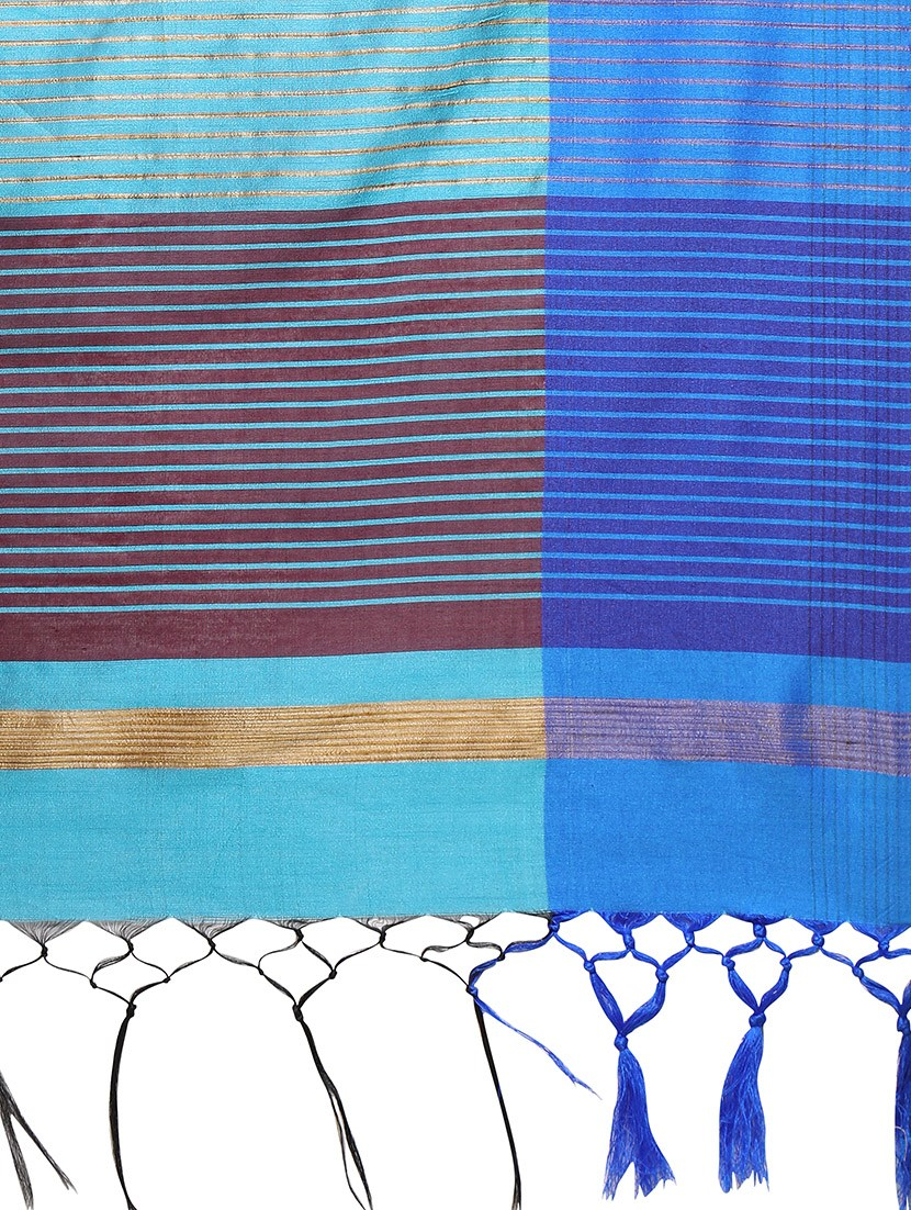 sky blue handloom saree with blouse