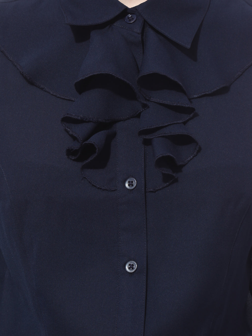 Besiva Navy Standard Fit Formal Shirt