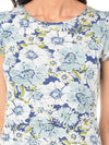 Besiva Blue & White Floral Print Top