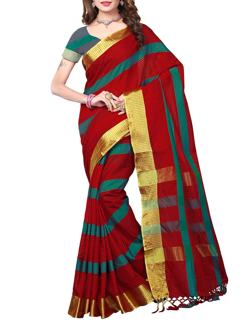 maroon poly silk mysore saree with blouse