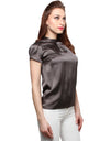 Satin Grey Top