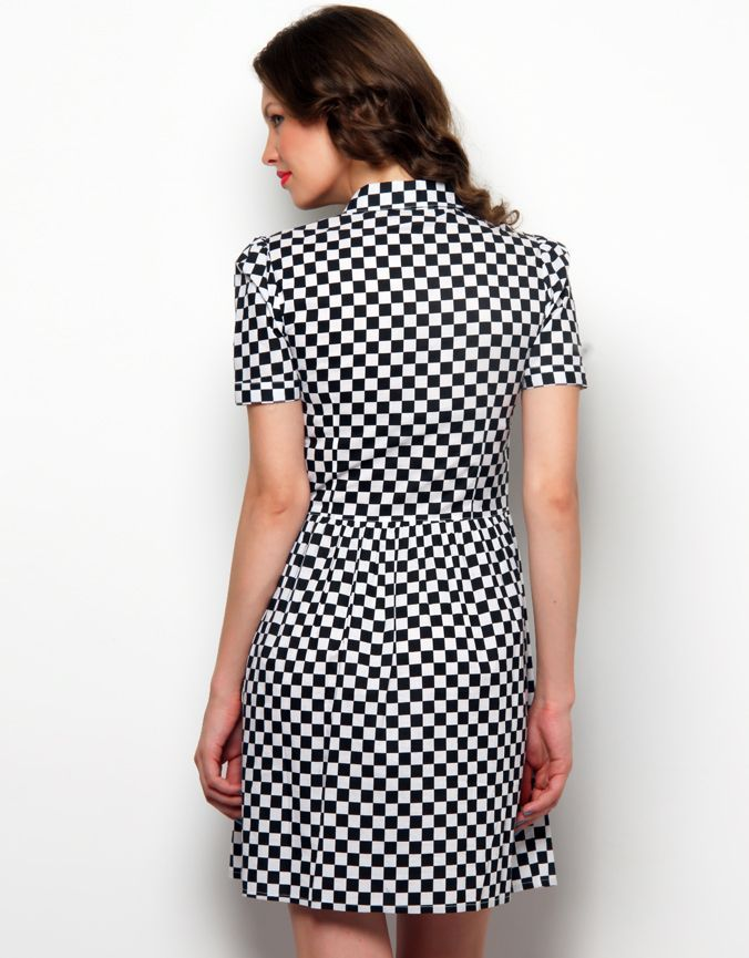 Collar Check Dress