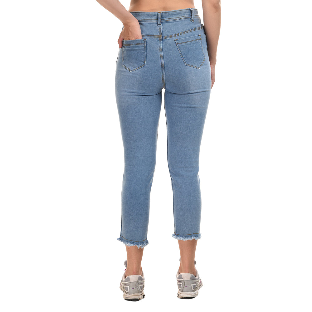 Essence Bleach Wash Straight Jeans