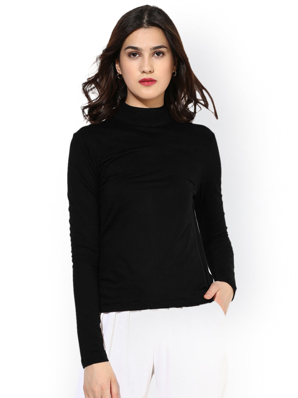 Besiva Women Black Solid Top