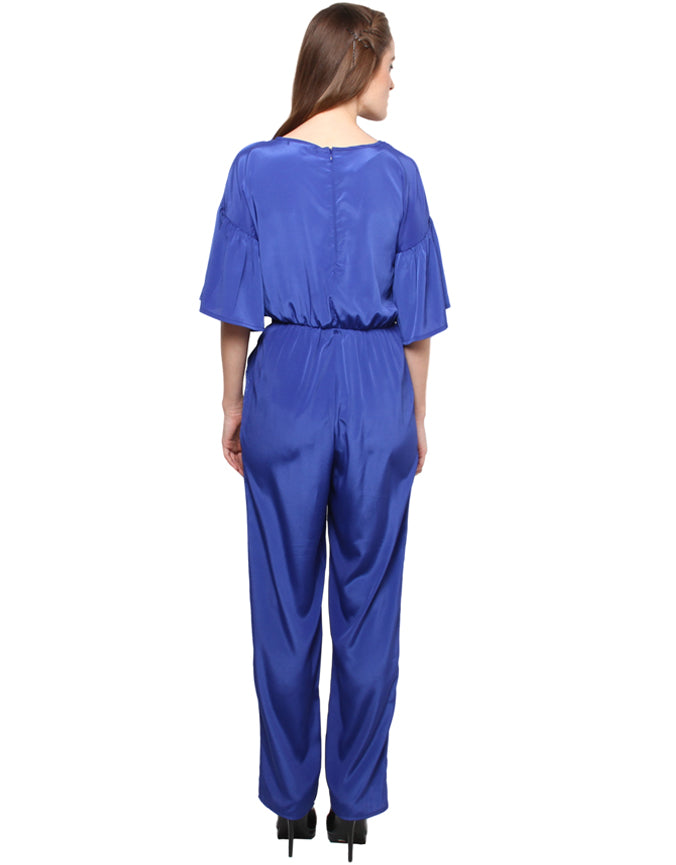 XnY blue bell sleeve jumpsuit