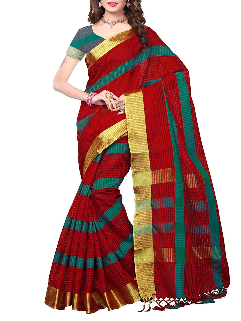multi poly silk combos saree with blouse