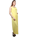 Yellow Poly Blend Jumpsuit