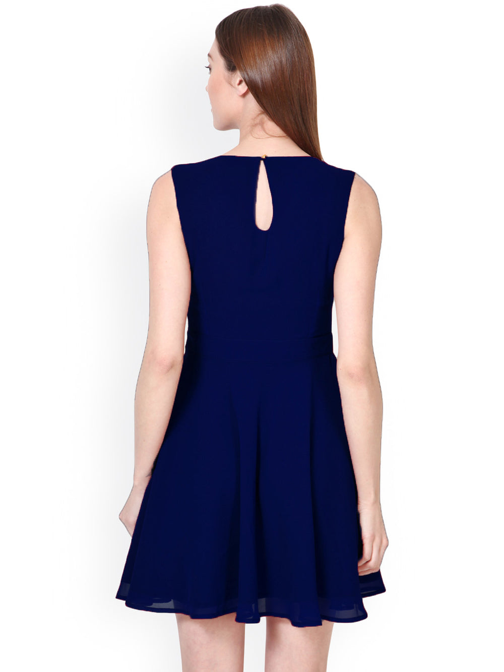 Besiva Navy Skater Dress