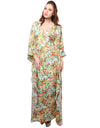 XnY Bat Wing Printed Maxi