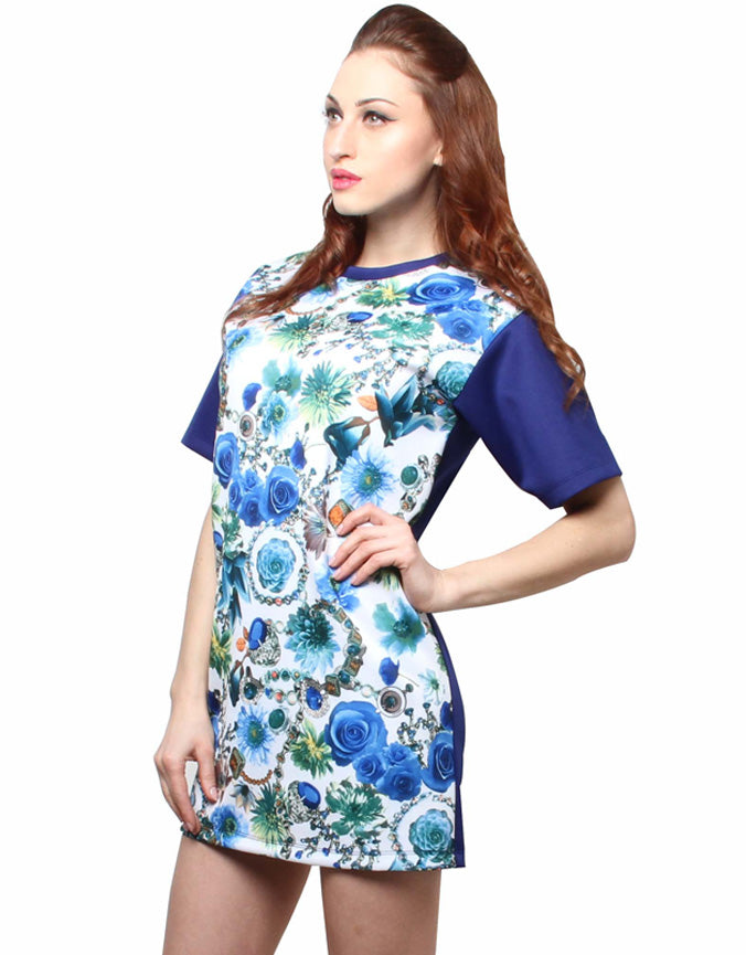 XnY Skuba Printed Dress