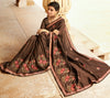 Roop Kashish Women Brown Party Wear Silk Saree With Border And Raw Silk Blouse Material_RKPF5854