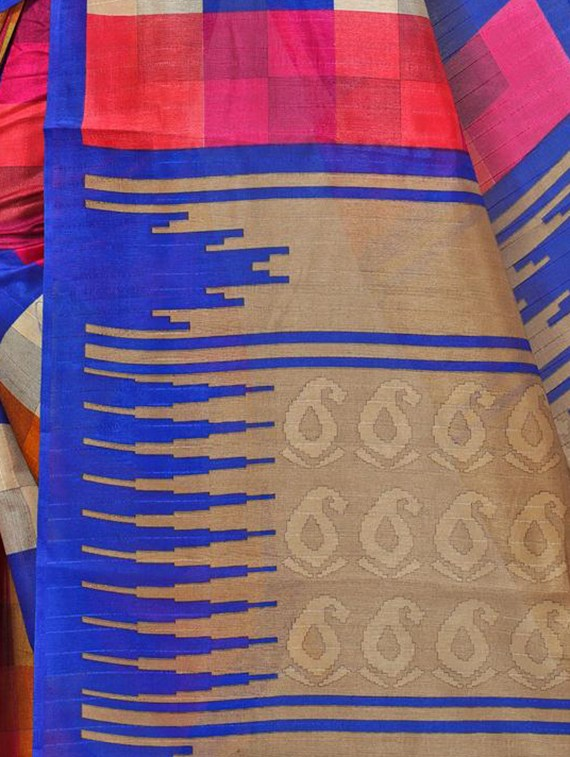 multi cotton silk bhagalpuri saree with blouse
