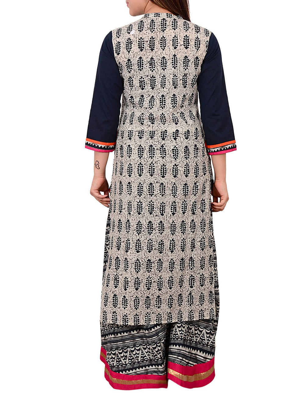 grey cotton straight kurta