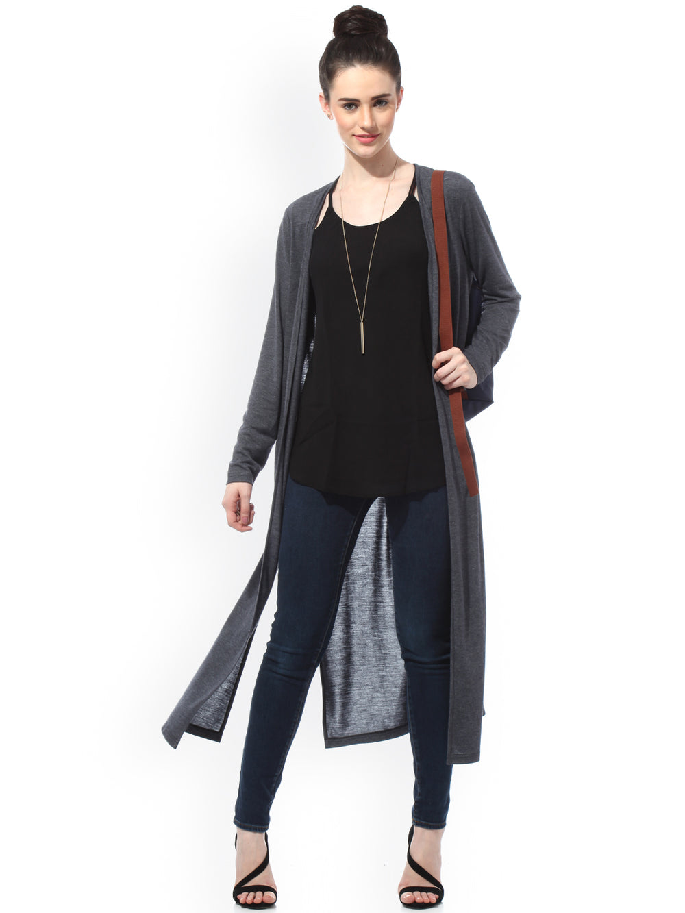 Besiva Grey Shrug