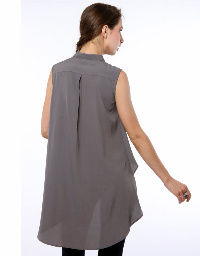 layered Shirt Front Grey