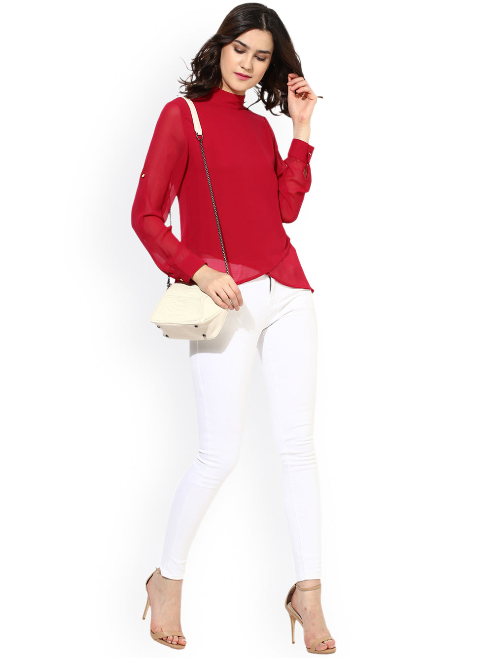 Besiva Women Red Solid Top