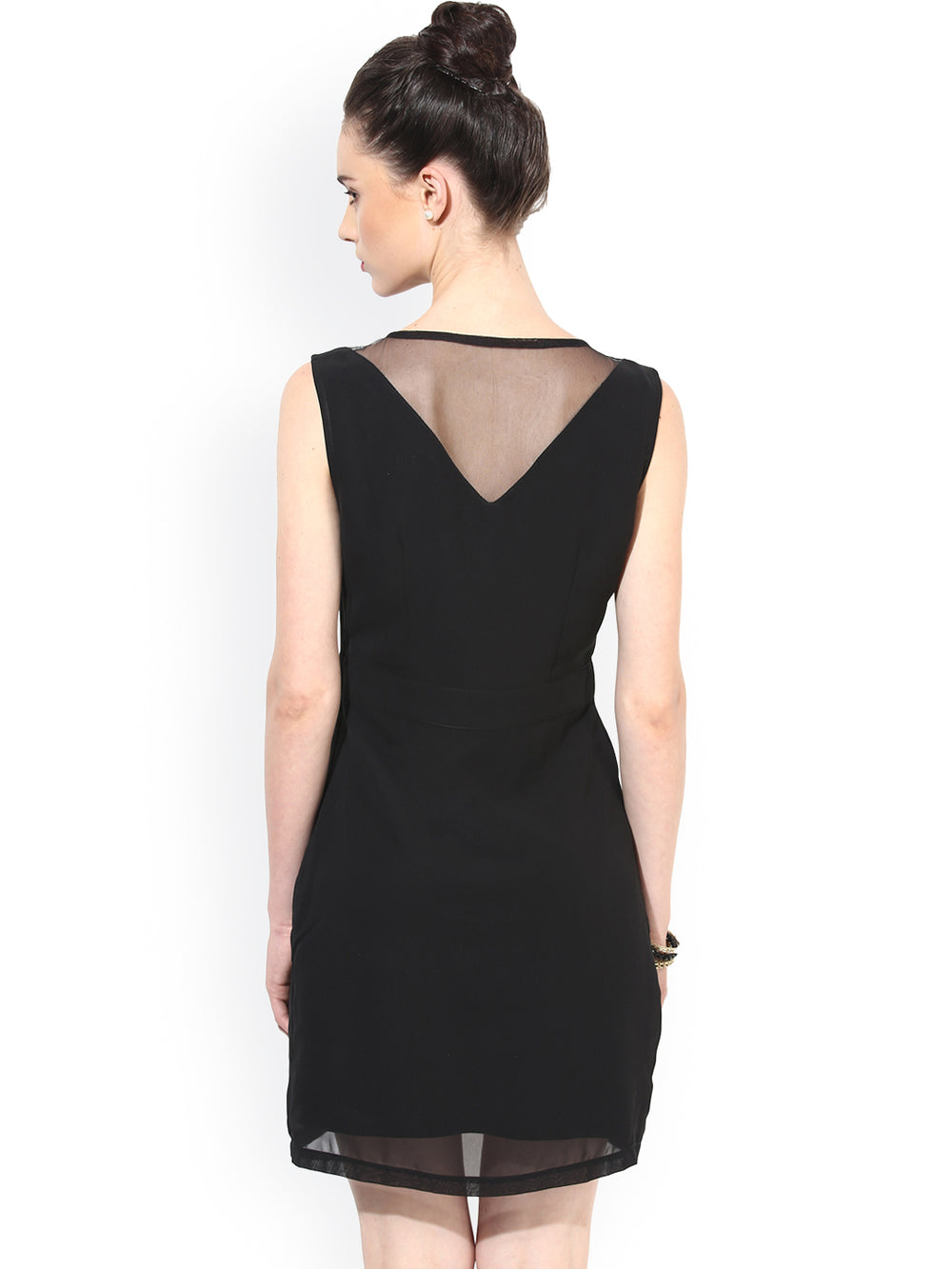 Besiva Black Sheath Dress