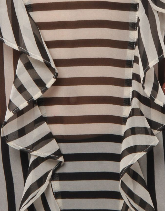 Frills Detail Stripe Top