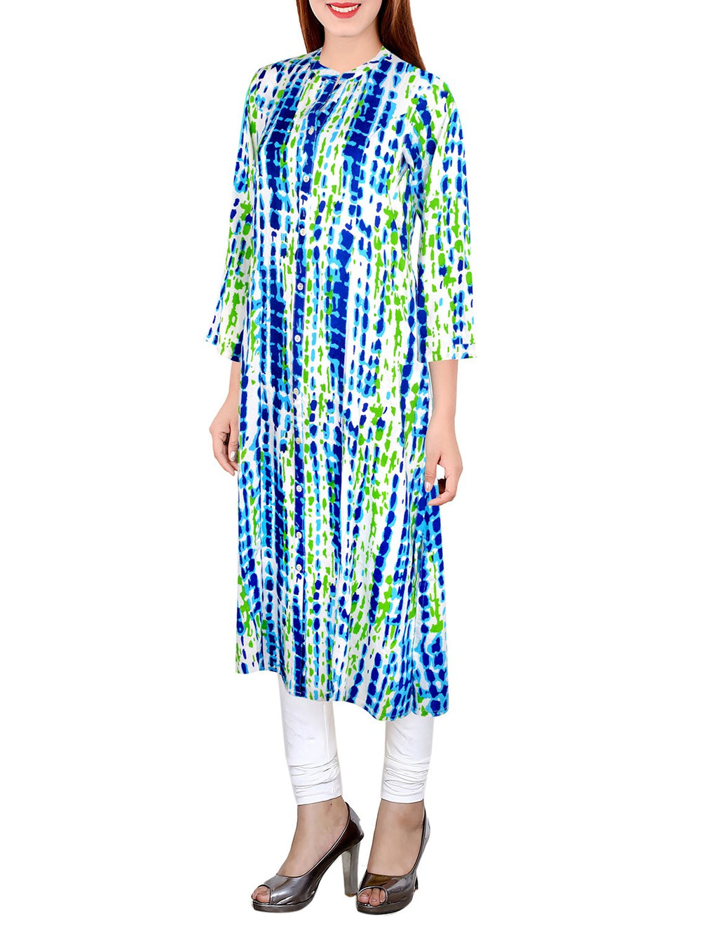 multi cotton aline kurta