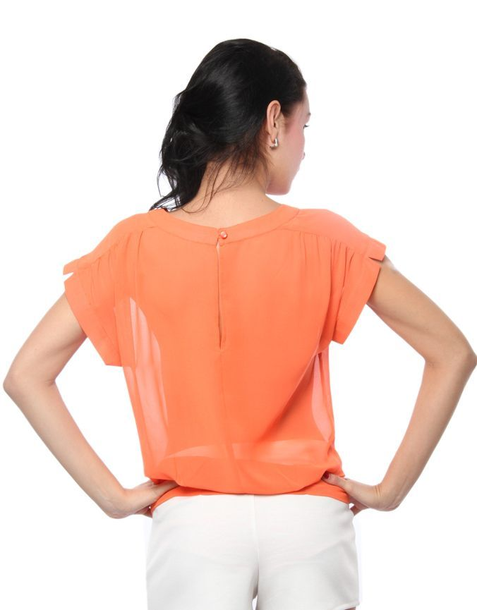 Box Fit Top Orange