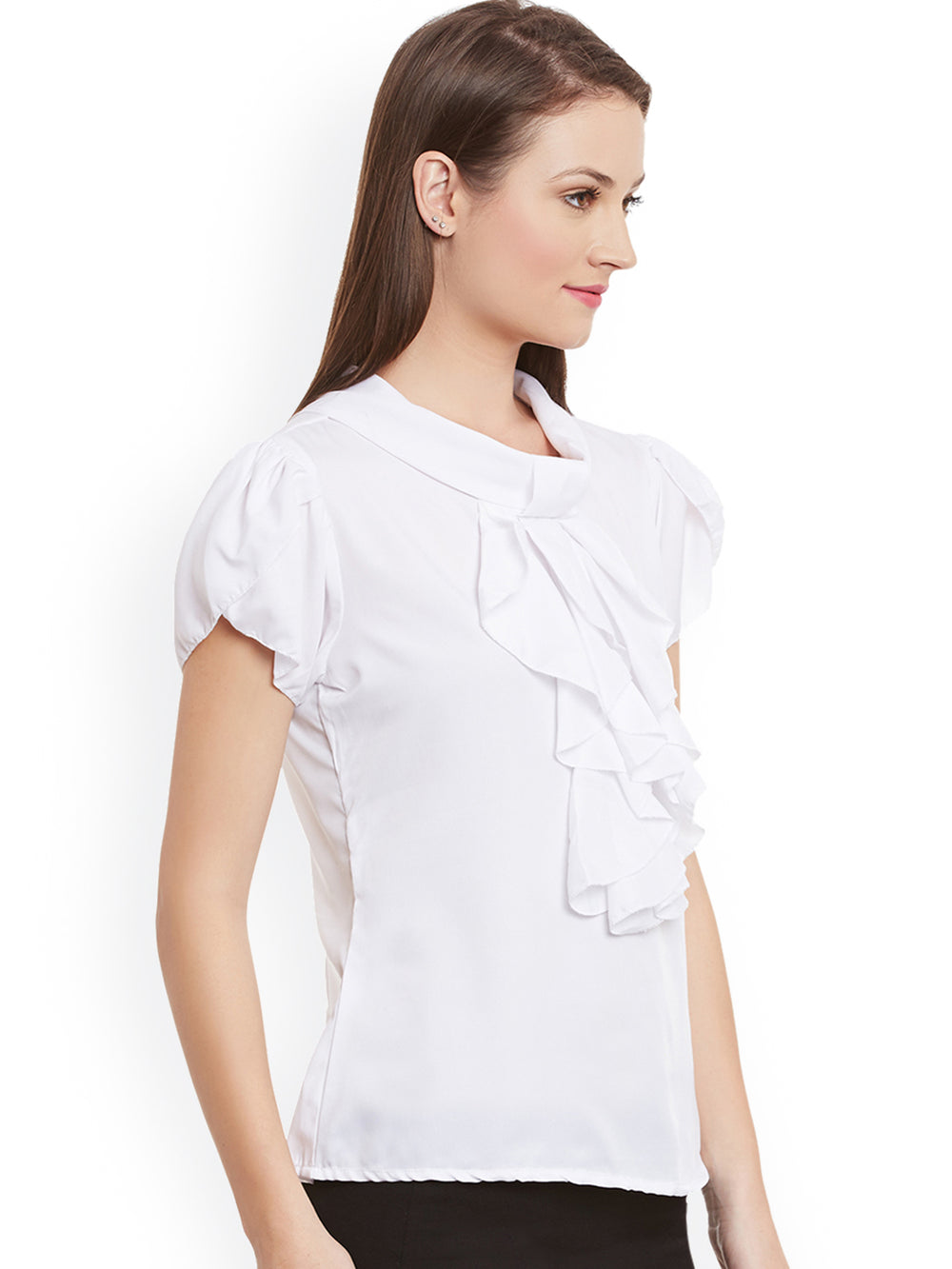 eyelet Women White Top