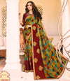 Roop Kashish Women Multi-Coloured Party Wear Georgette Saree With Border And Raw Silk Blouse Material_RKPF2004