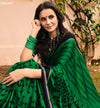 Roop Kashish Women Green Party Wear Georgette Saree With Border And Georgette Blouse Material_RKPF2012