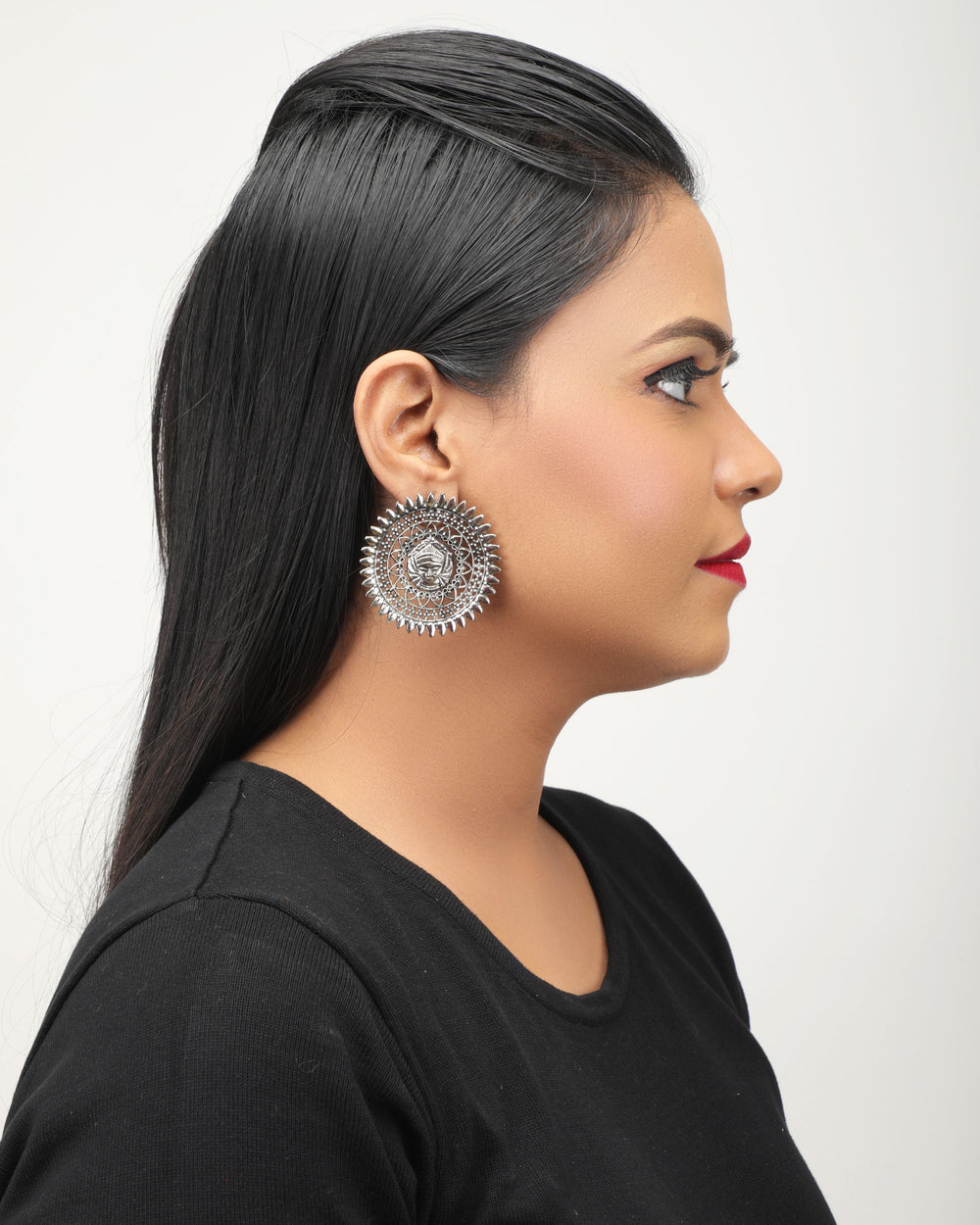 Silver-Toned  Dome Shaped Studs