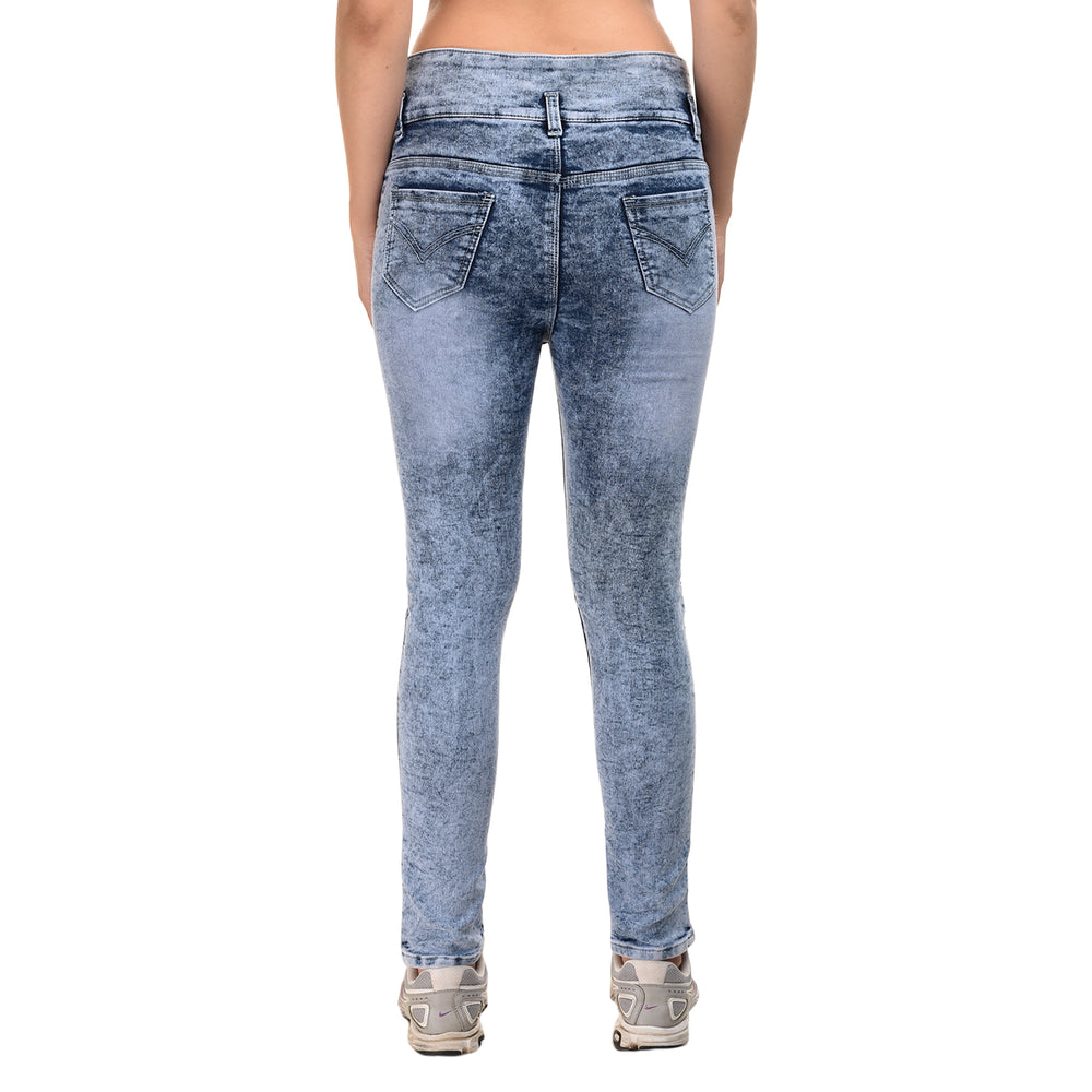 Essence Rolled Hem Old Destroyed Jeans