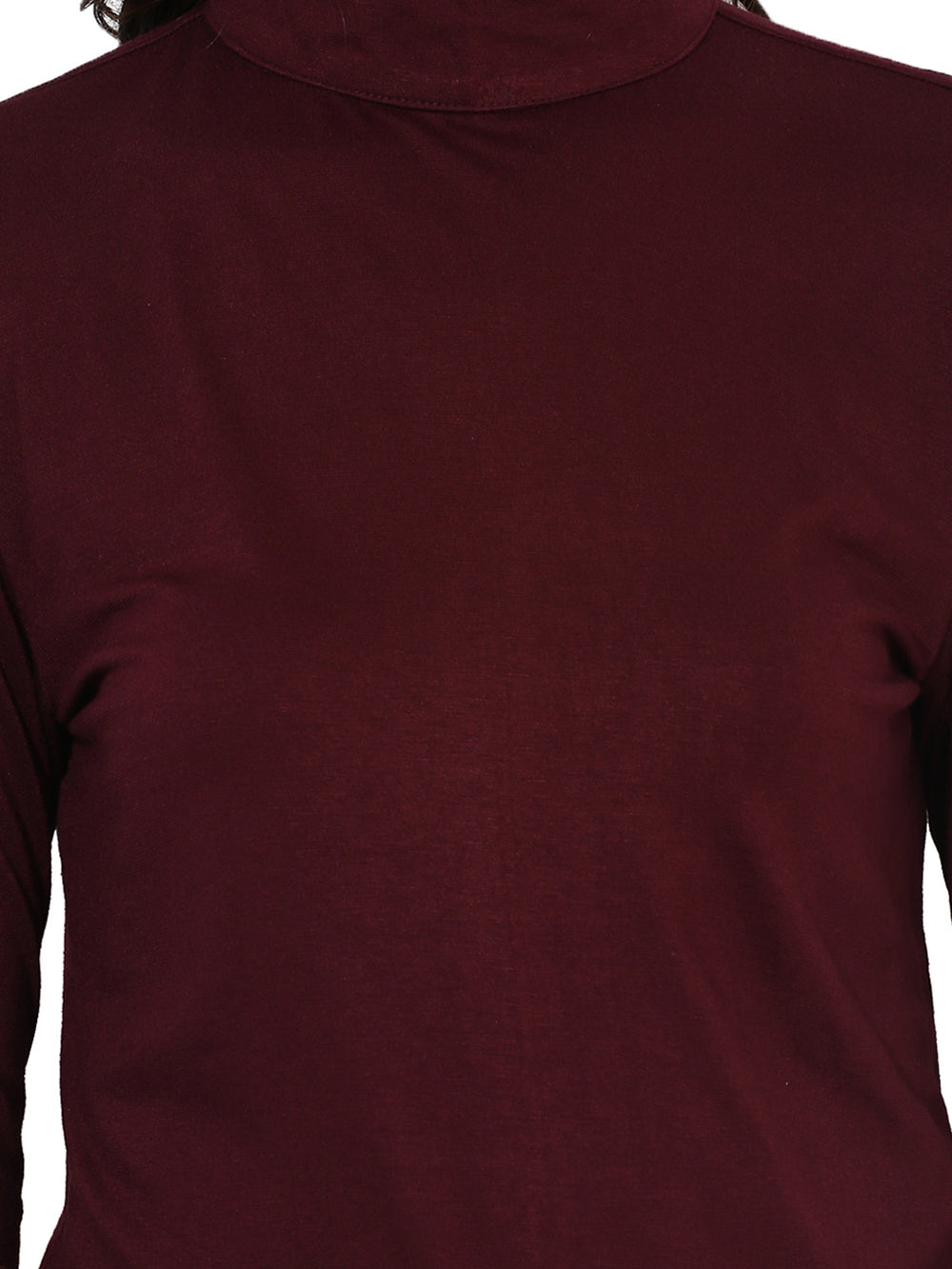 Besiva Women Maroon Solid Top
