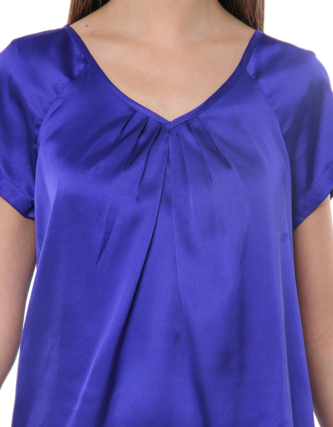 Satin Top Blue