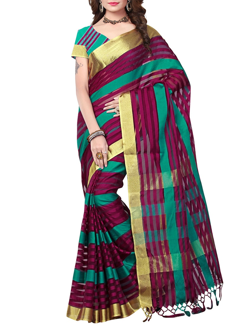 multi poly silk mysore saree with blouse