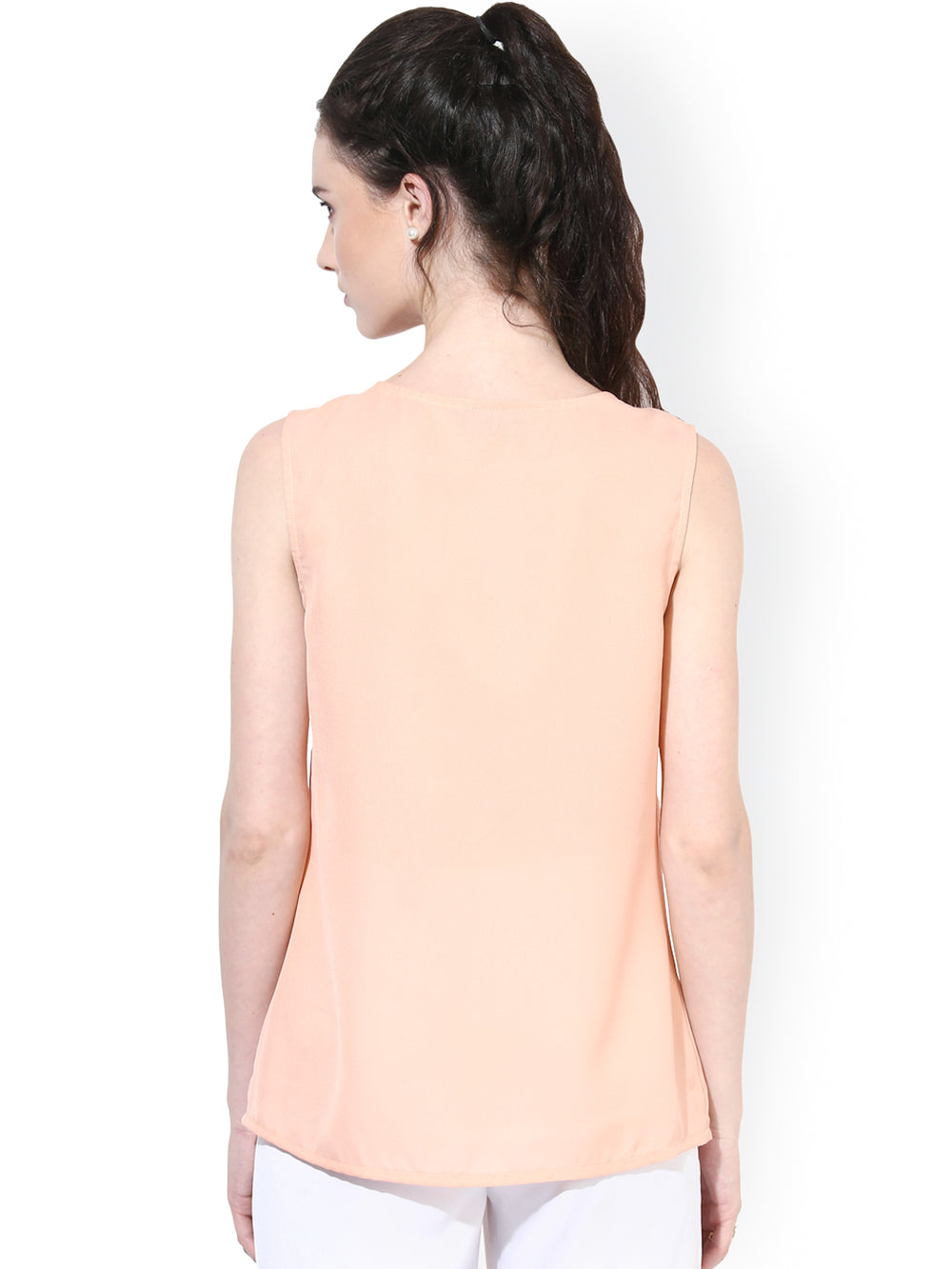 Besiva Peach-Coloured Top
