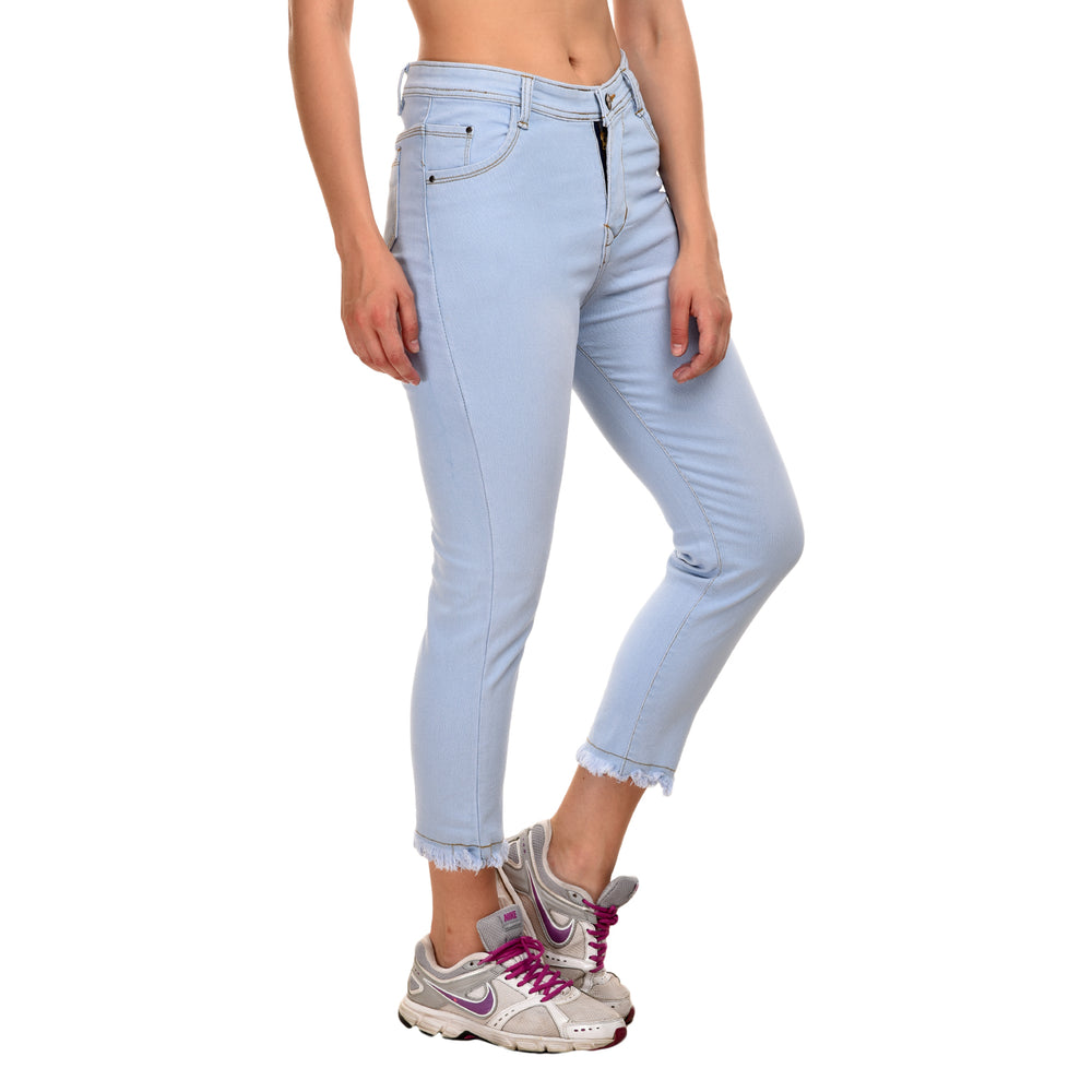 Essence Blue Ankle Jeans