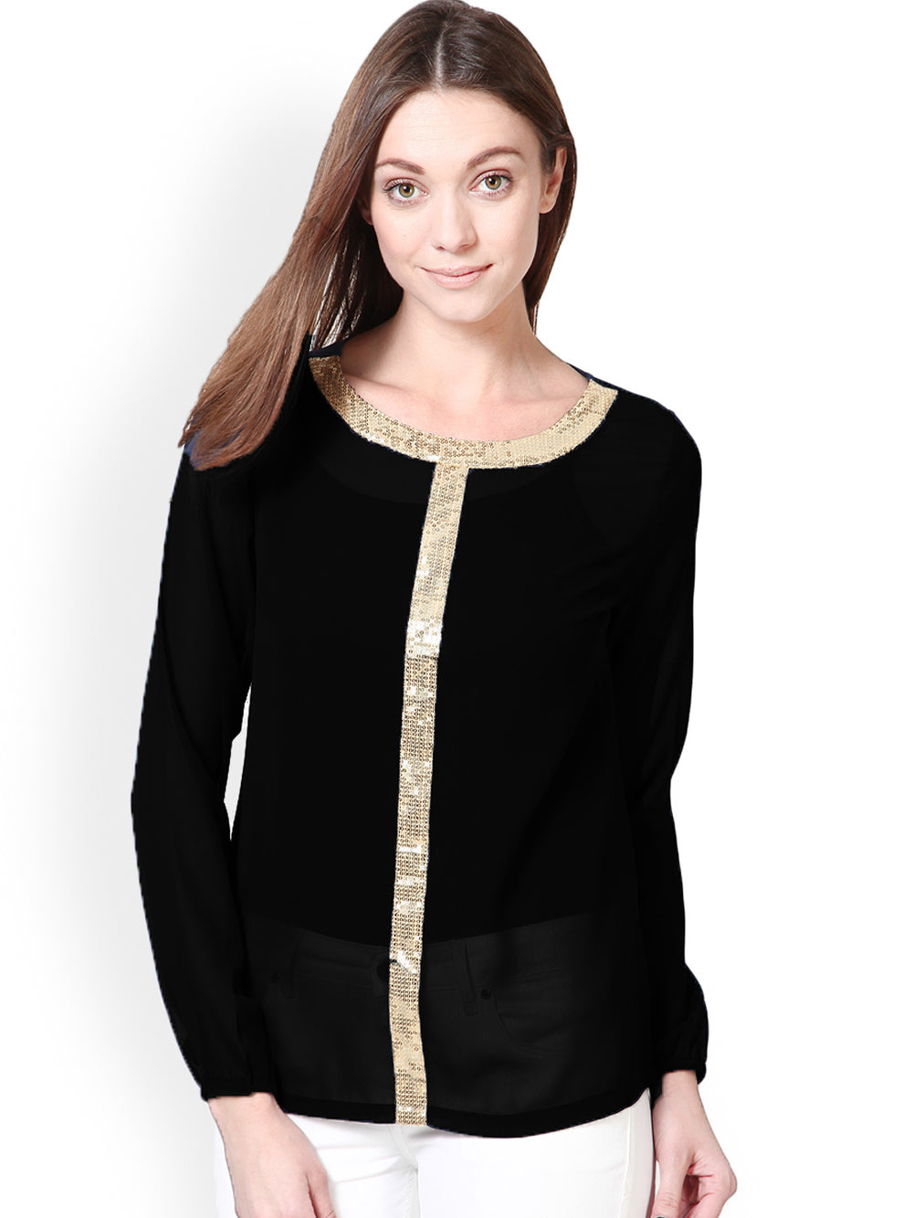 Besiva Women Black Top