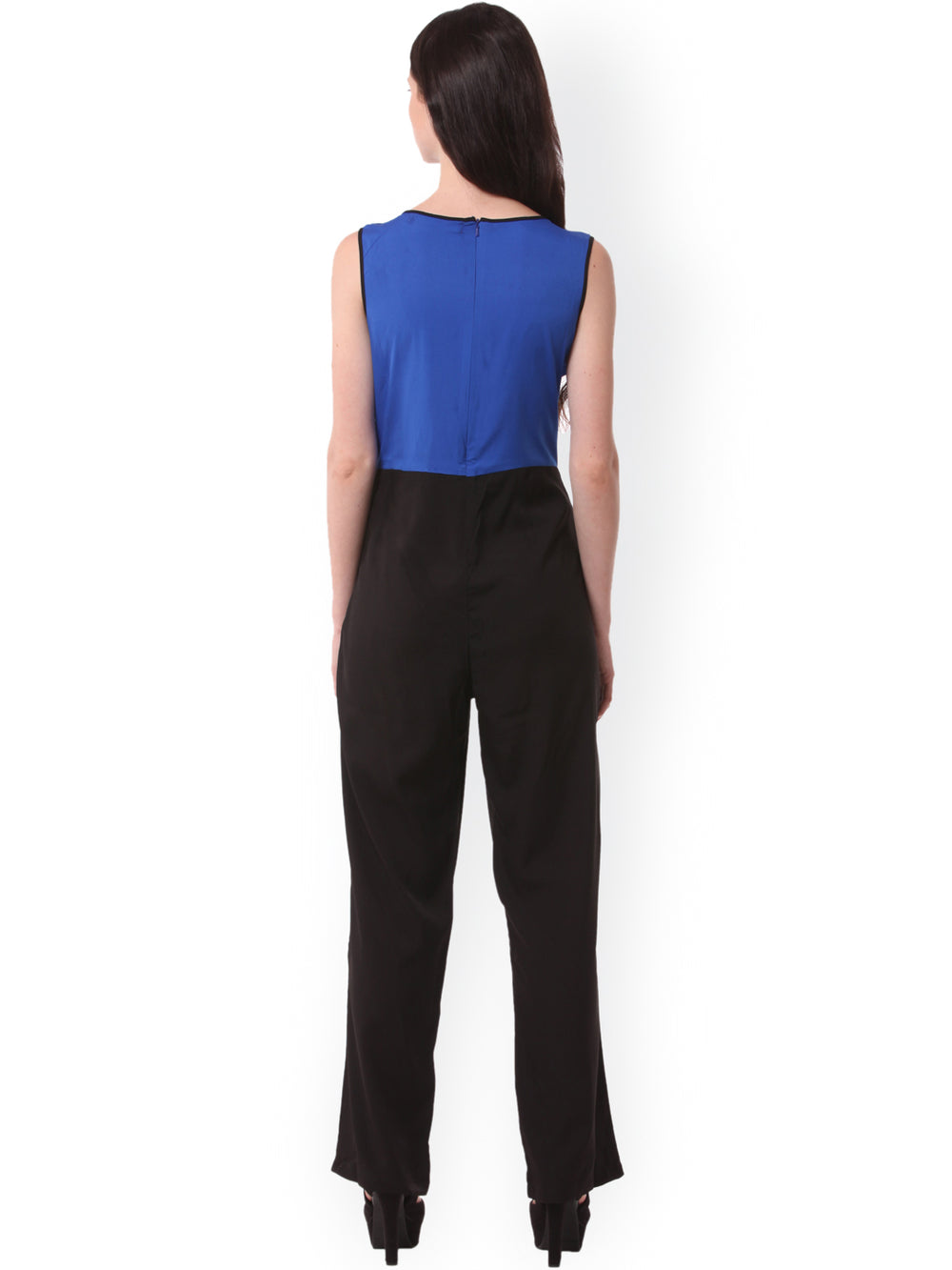 eyelet Blue & Black Jumpsuit