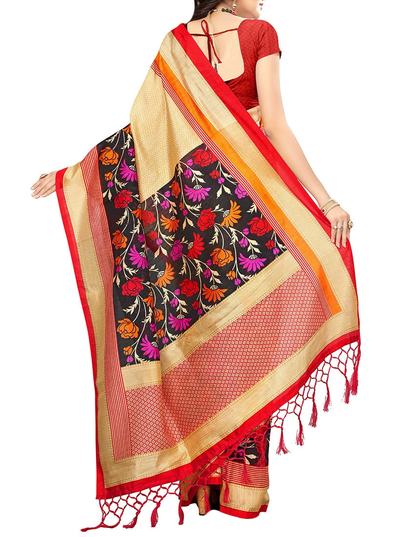 multi art silk mysore saree with blouse