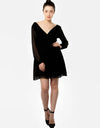 Empire Dress With Long Sleeves Black