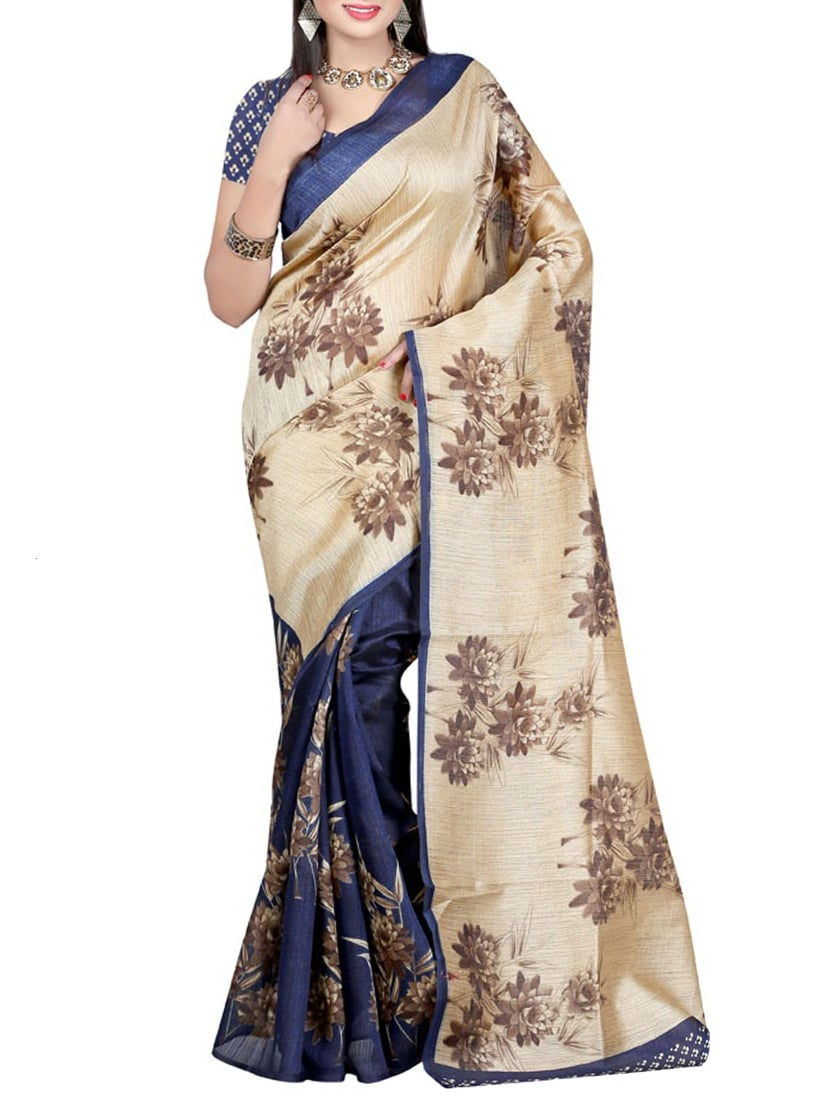 multi art silk half and saree with blouse