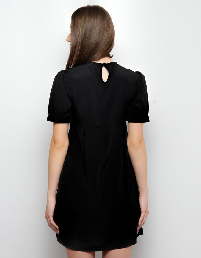 Collar Tip Dress Black