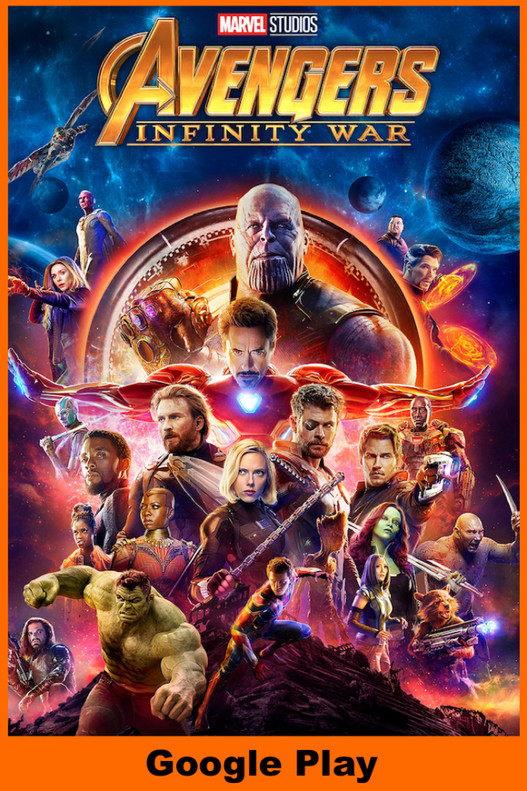 Avengers Infinity War (HD Google Play Redeem)