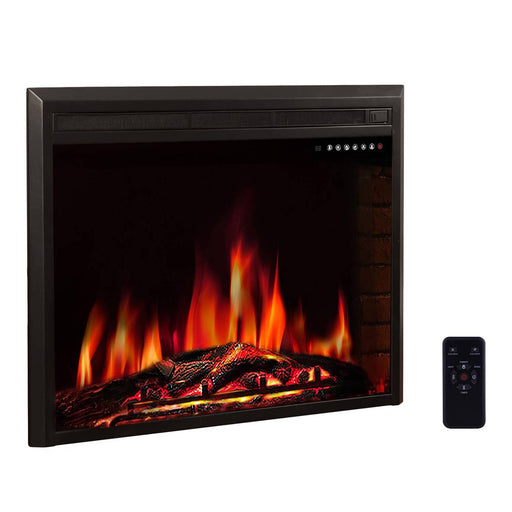 "36"" Freestanding & Recessed Electric Fireplace Insert, 750W-1500W"