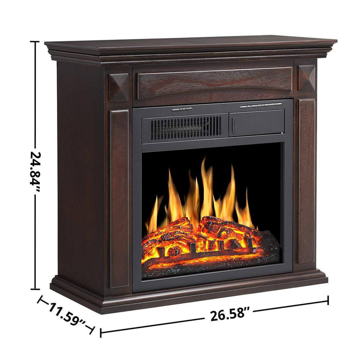 R W Flame Electric Fireplace Mantel Wooden Surround Firebox Free Stand R W Flame