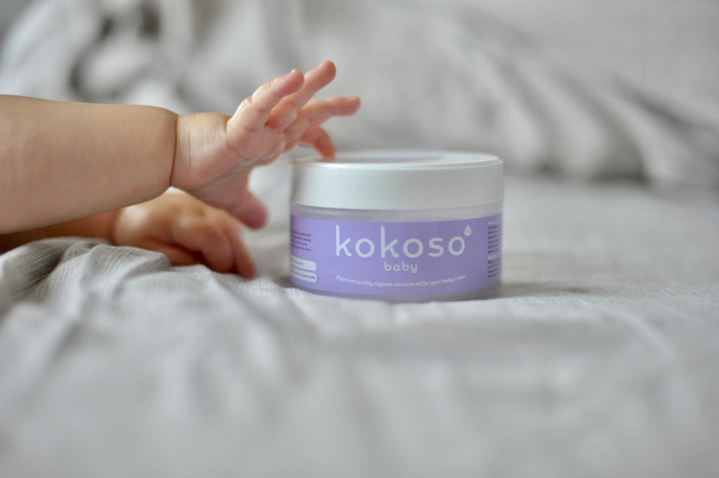 12 uses for 12 months – Kokoso Baby Coconut Oil through the first year.