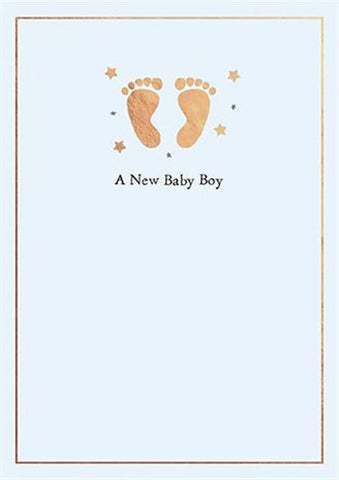 A New Baby Boy Card