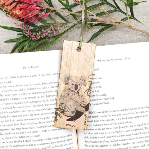Buttonworks Coloured Koala Bookmark