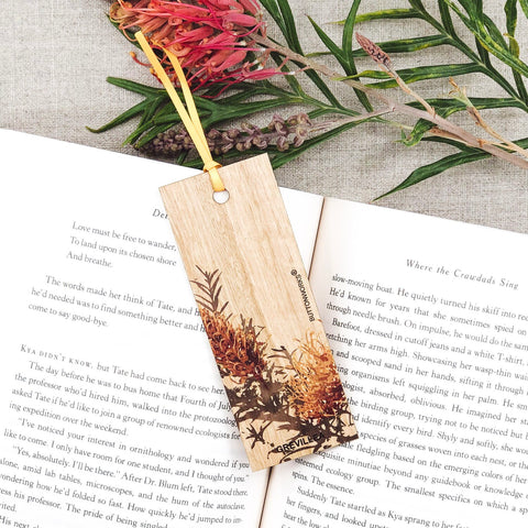 Buttonworks Coloured Grevillea Bookmark